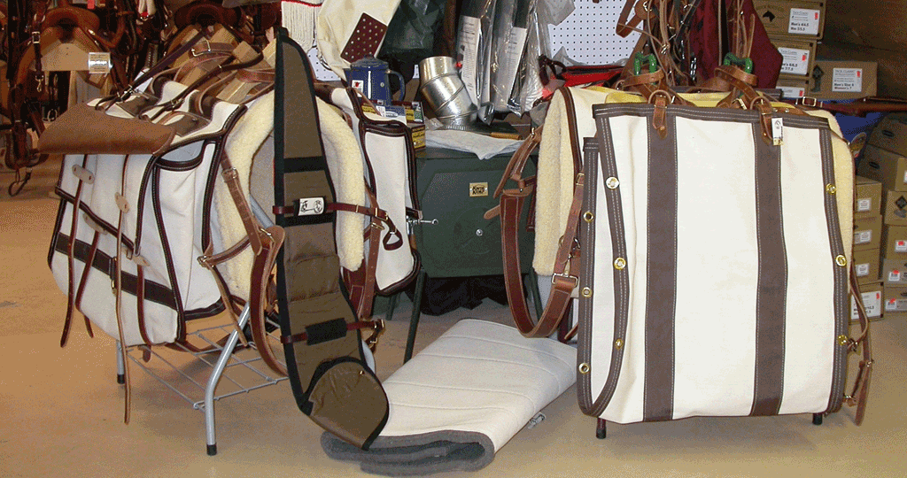 Large variety of horse supplies.